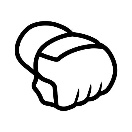 격투기 - MMA - 장갑 라인 아트 아이콘