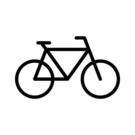 Bicycle fitness line art icon for apps and websites Stock Illustratie