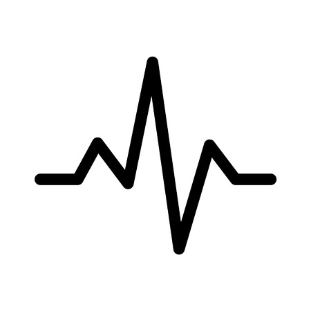 Heart monitor pulse line art icon for medical apps and websites
