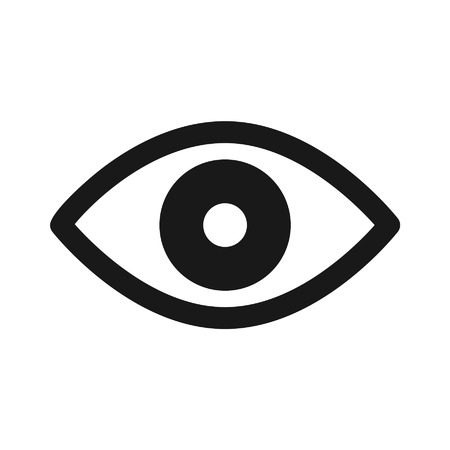 medical scan: Retina scan eye flat icon for medical apps and websites