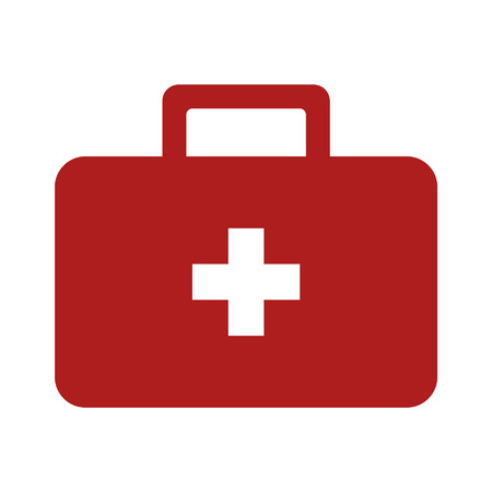 ems: First aid kit flat icon for medical apps and websites