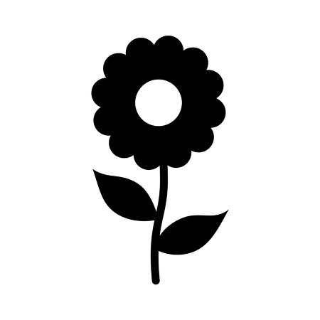 chamomile flower: Chamomile daisy flower flat icon for apps and websites