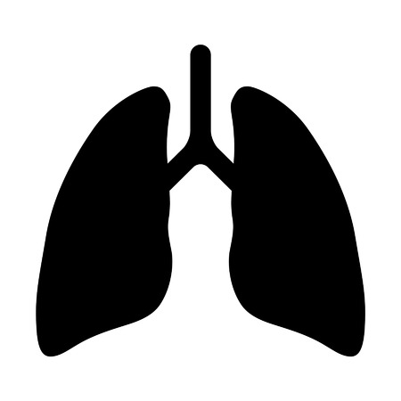 lung transplant: Human lung flat icon for app and website Illustration