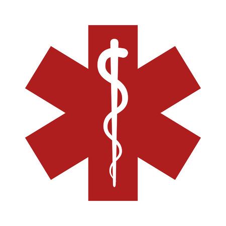 esculapio: Icono plana de emergencia m�dica para la aplicaci�n y el sitio web