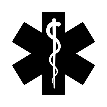 first responder: Medical emergency flat icon for app and website