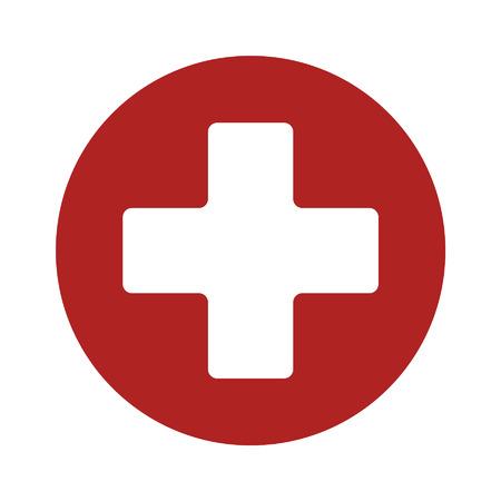 primeros auxilios: Primeros auxilios icono plana muestra médica de aplicación y el sitio web Vectores