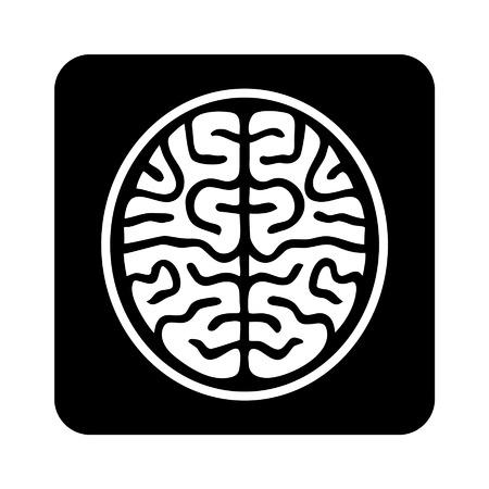 medical scanner: MRI brain scan flat icon for medical apps and websites