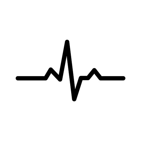 heart monitor: Heart monitor pulse line art icon for medical apps and websites