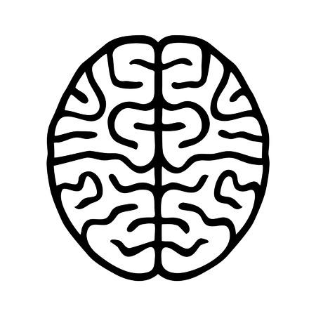 cerebro: Icono de esbozo El cerebro humano para la atención sanitaria médica