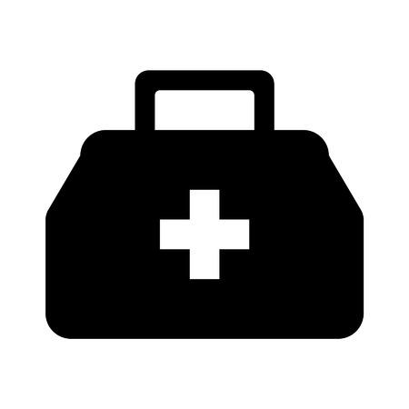 ems: Icono plana M�dico o doctor bolsa para la aplicaci�n y el sitio web Vectores