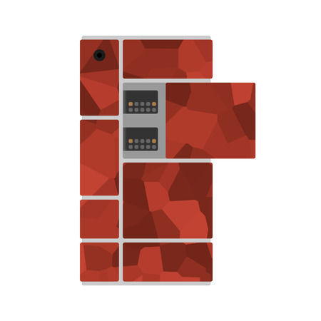 modular: Modular smart phone with different modules rendering