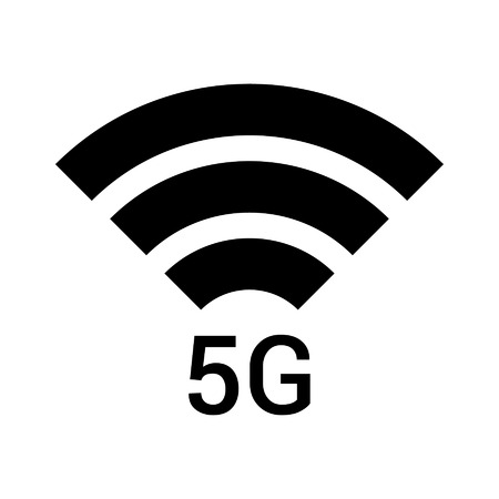 mobile cellular: 5g 5th generation wireless network signal icon