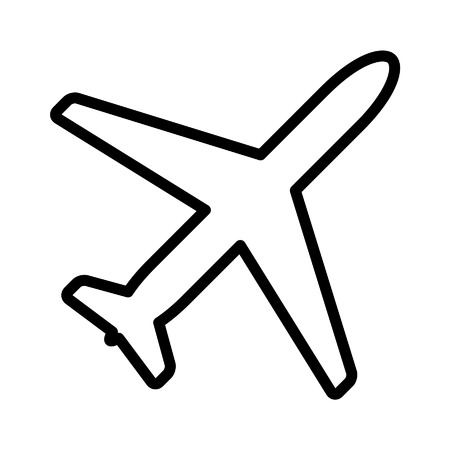 Airplane aviation line art icon for apps and websites