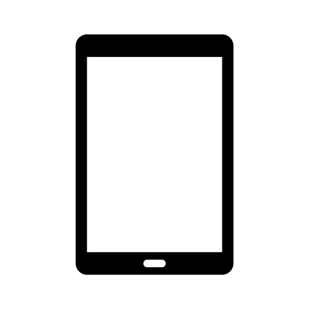 android tablet: Android tablet flat icon for websites