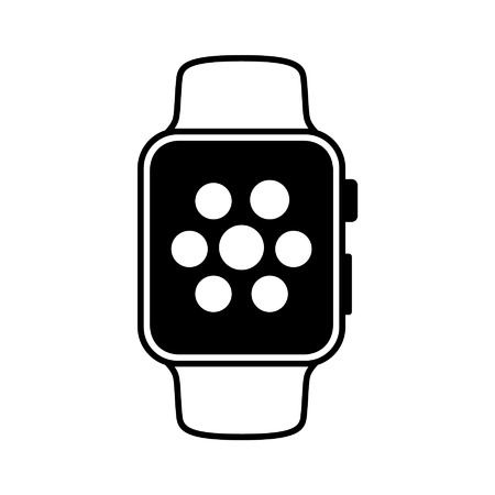 smart: Smart watch wearable with apps flat icon