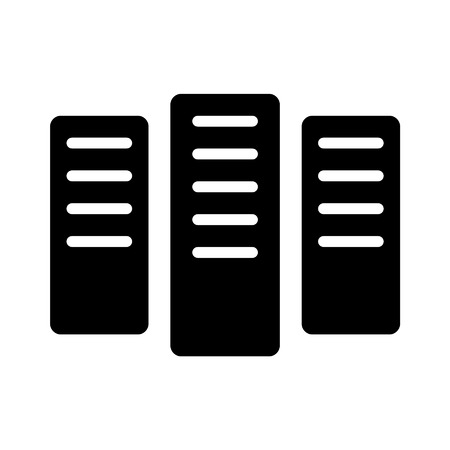 digitization: Super computing server flat icon for websites