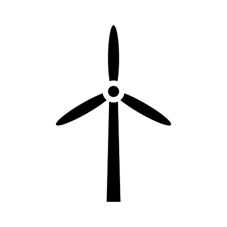Wind energy turbine flat icon for apps and websites