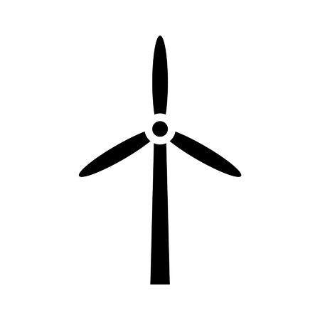 windfarm: Turbina energia icona piatto per le applicazioni e siti web Vettoriali