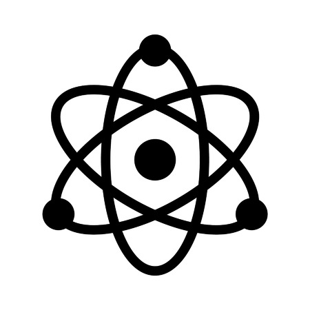 atomic: atomic structure line art icon for app and websites Illustration