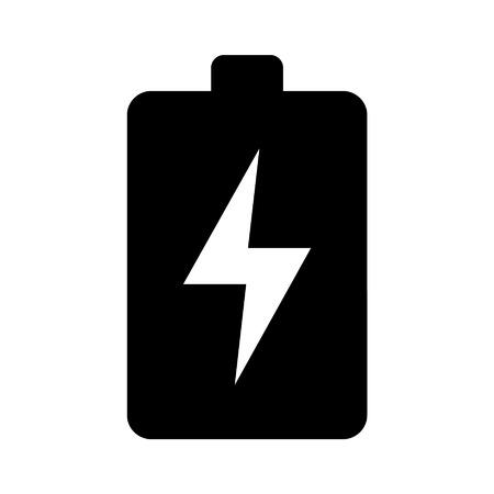 eficiencia: Icono de la batería plana de energía renovable verde para aplicaciones Vectores