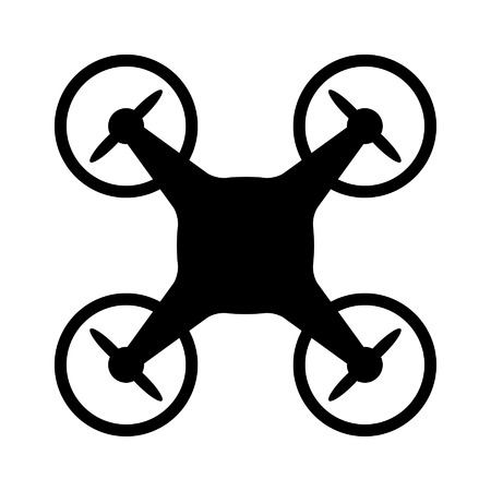 drone: Civilian aerial drone flat icon for apps and websites Illustration