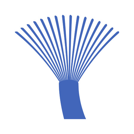 fibre: Fiber optics communication cable wire icon