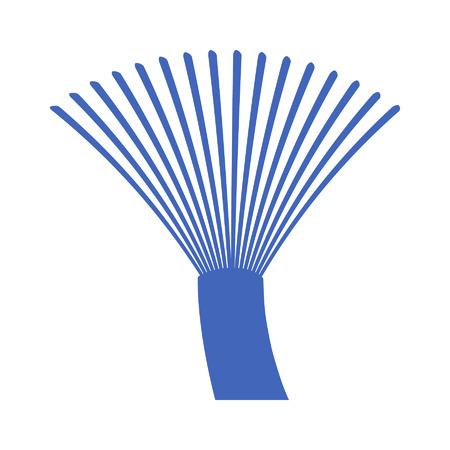 fiber cable: Fiber optics communication cable wire icon