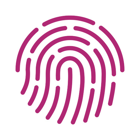 Fingerprint ID icon for apps with security unlock