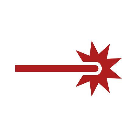 beam: Rode laserstraal ray icoon voor apps en websites