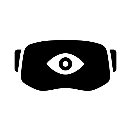 Virtual reality gaming headset with eye icon