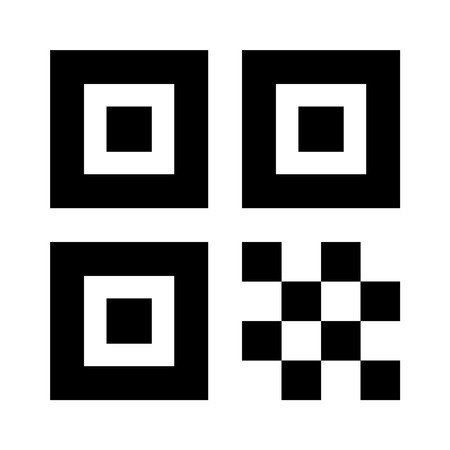 QR code flat icon for apps and websites
