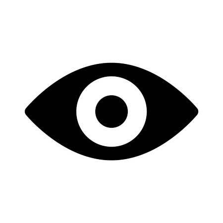 retina scan: Retina scan eye flat icon for medical apps and websites