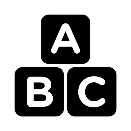 abc blocks: ABC blocks child education flat icon for apps and websites