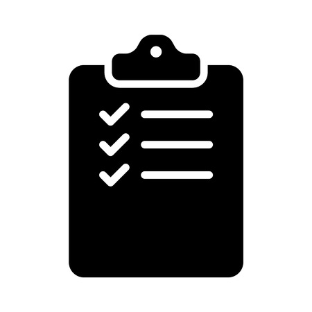 intake: clipboard checklist form line art icon for apps and websites Illustration