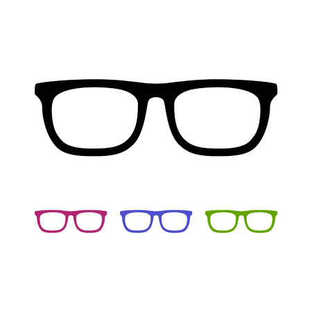 eyeglasses flat icon for app and website Çizim