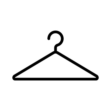Clothing hanger line art icon for fashion app and website