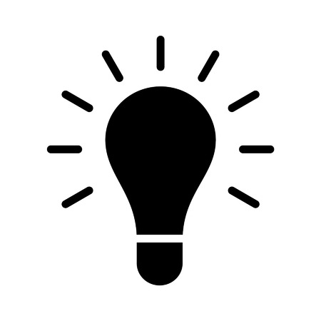 bright: Bright idea light bulb flat icon for apps and websites