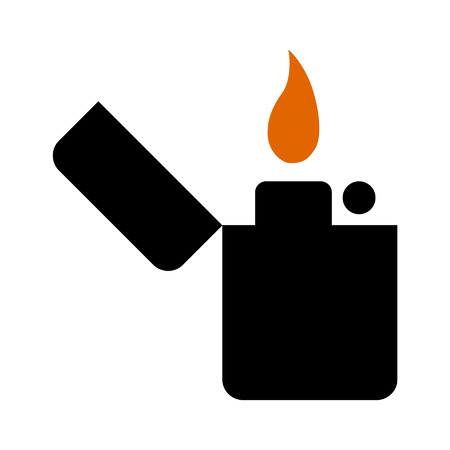 Vintage lighter line art icon for apps and websites