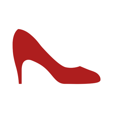 red shoes: Womens pumps flat icon for apps and websites