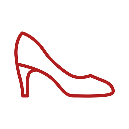 red shoes: Womens pumps line art icon for apps and websites