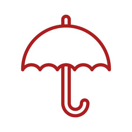 Umbrella line art icon for apps and websites