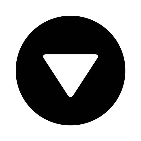 directional arrow: Down directional arrow flat icon for apps and websites