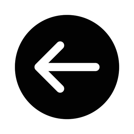 Left back directional arrow flat icon for apps and websites