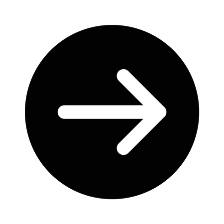 directional arrow: Right next directional arrow flat icon for apps and websites
