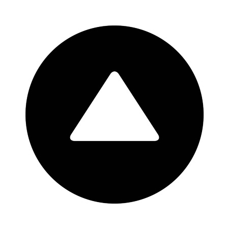 directional arrow: Up directional arrow flat icon for apps and websites Illustration