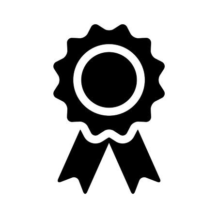 award badge: Award badge flat icon for apps and websites Illustration