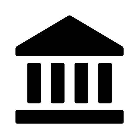 Wall street bank flat icon for apps and websites