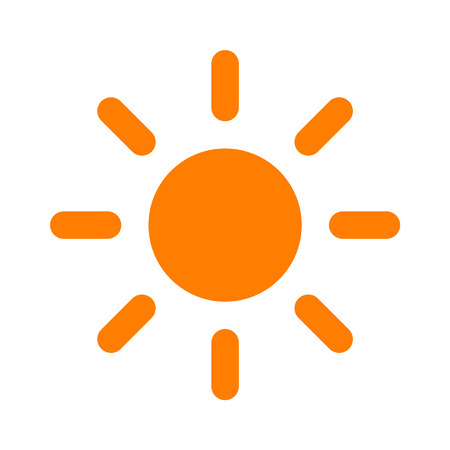 brightness: Sun brightness flat icon for apps and websites