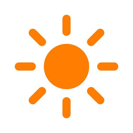 rooster at dawn: Sun luminosit� icona piatto per le applicazioni e siti web