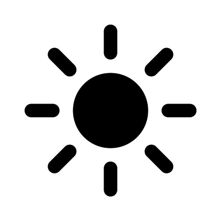 rooster at dawn: Sun brightness flat icon for apps and websites
